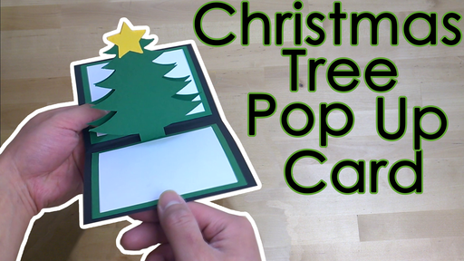 Christmas Tree Popup Greeting Card Template and Tutorial