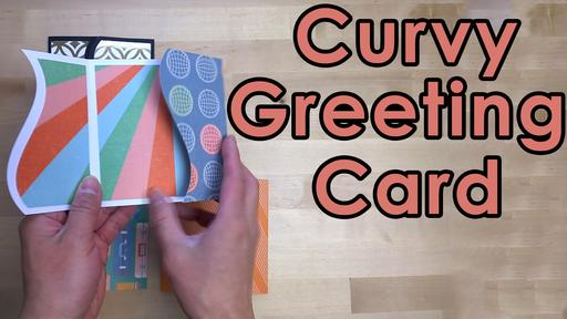 Curvy Greeting Card Template and Tutorial