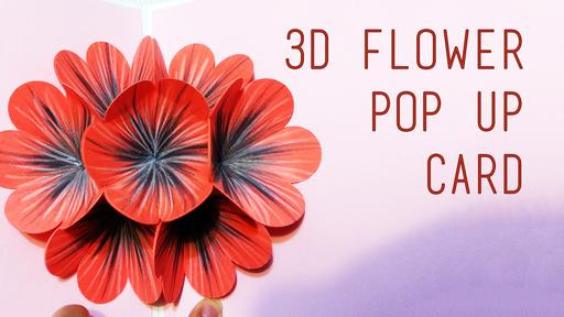 Flower Pop-Up Card Template and Tutorial