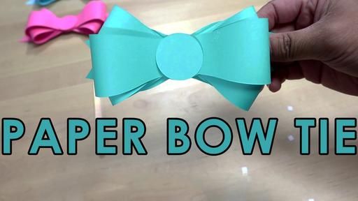 Paper Bow Tie Template and Tutorial