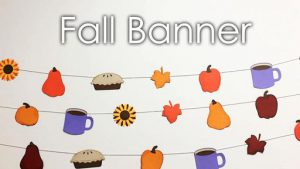 Fall Themed Banner Template and Tutorial