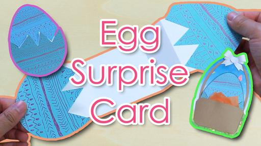egg surprise card template