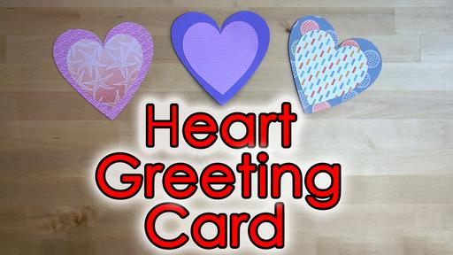 Heart Flip Greeting Card Template and Tutorial