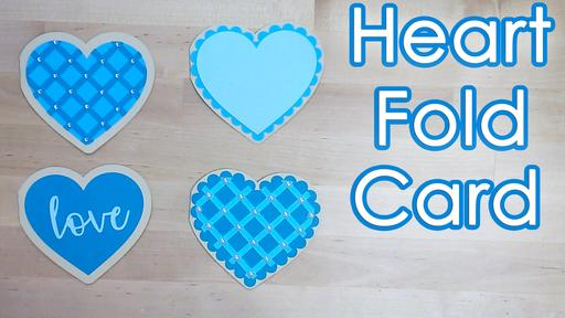 Heart Shape Fold Card Template and Tutorial