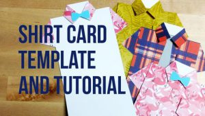 Dress Shirt Tie Greeting Card Template and Tutorial