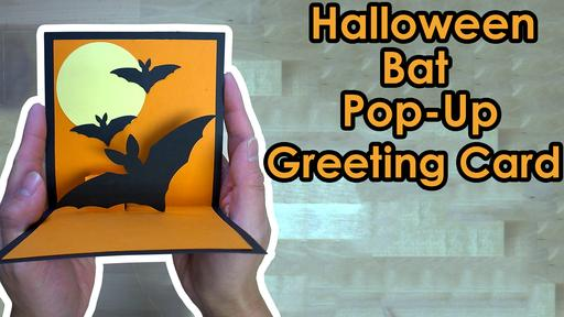 Halloween Bat Greeting Card Template and Tutorial