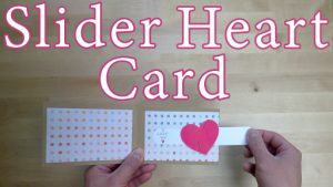 Slider Heart Card Template and Tutorial